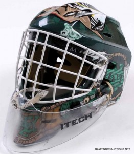 Aaron Dell Game Worn Mask