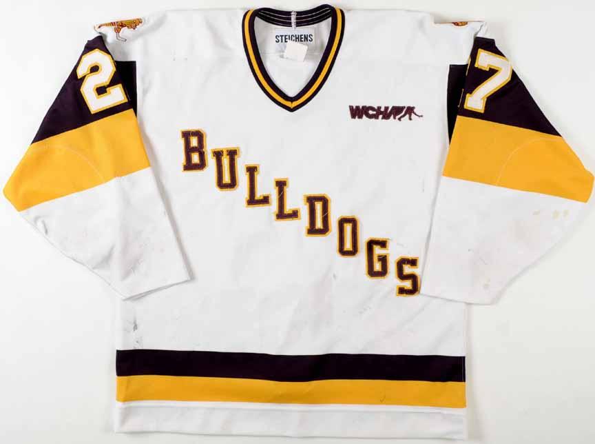 Mid 1990 s Chris Snell U of Minnesota-Duluth Game Worn Jersey ... f05928ff0e0