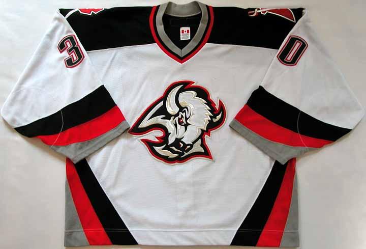 2003-04 Ryan Miller Sabres Game Worn Jersey - 2nd Season - NHL Letter 4ebfe69a0f2