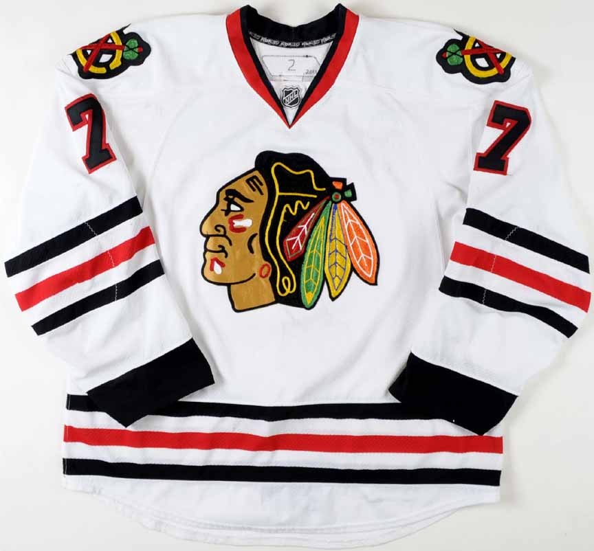 the latest 36396 5dec4 2010-11 Brent Seabrook Chicago Blackhawks Game Worn Jersey ...