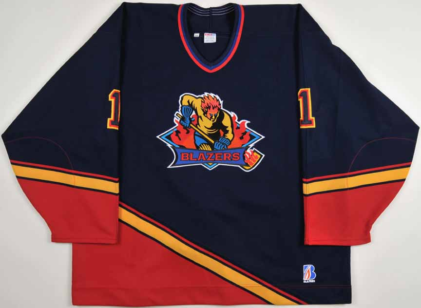 1998-99 David Haun Kamloops Blazers Game Worn Jersey - Alternate ... d00e61211