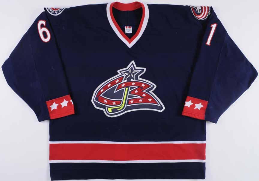 timeless design 83208 94c53 2005-06 Rick Nash Columbus Blue Jackets Game Worn Jersey ...