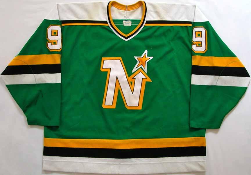 1988-89 Mike Modano Minnesota North Stars Game Worn Jersey - Rookie - Photo  Match 753a40bb96d