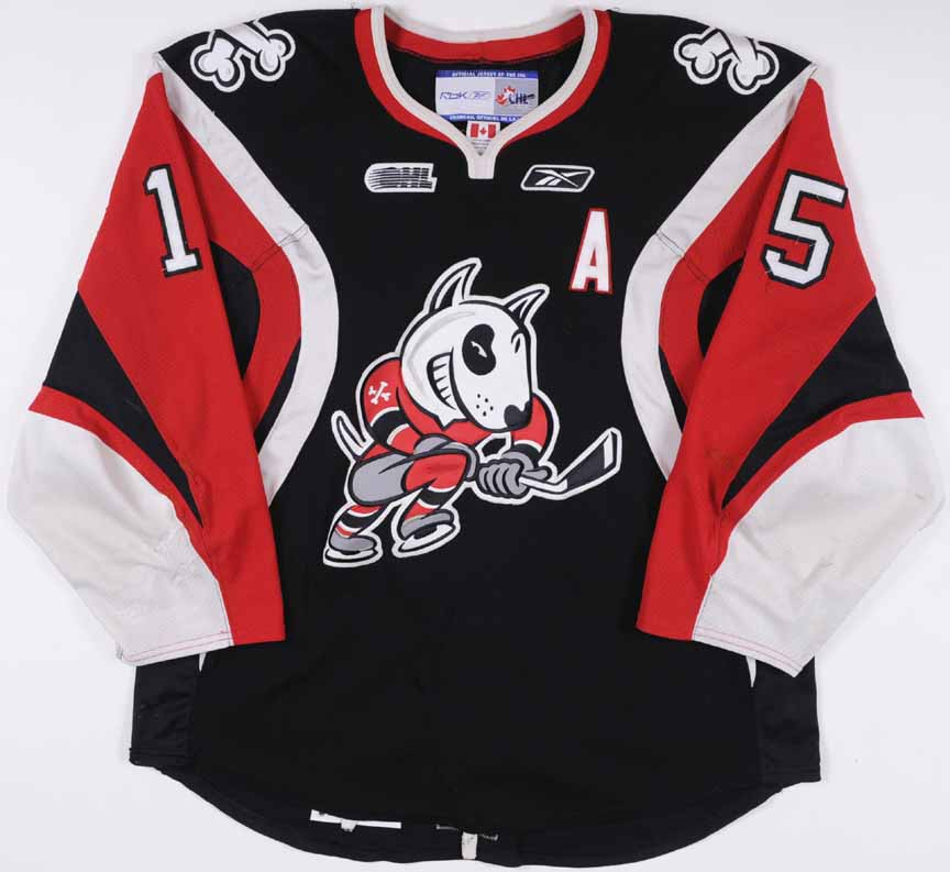 new arrival 80ebd a4388 2009-10 Andrew Shaw Niagara IceDogs Game Worn Jersey ...