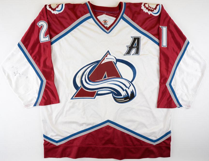 peter forsberg colorado avalanche jersey