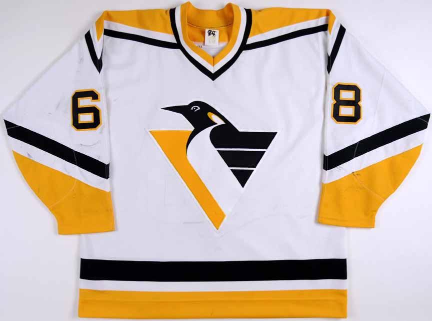 1994-95 Jaromir Jagr Pittsburgh Penguins Game Worn Jersey - Art Ross Trophy 491627259