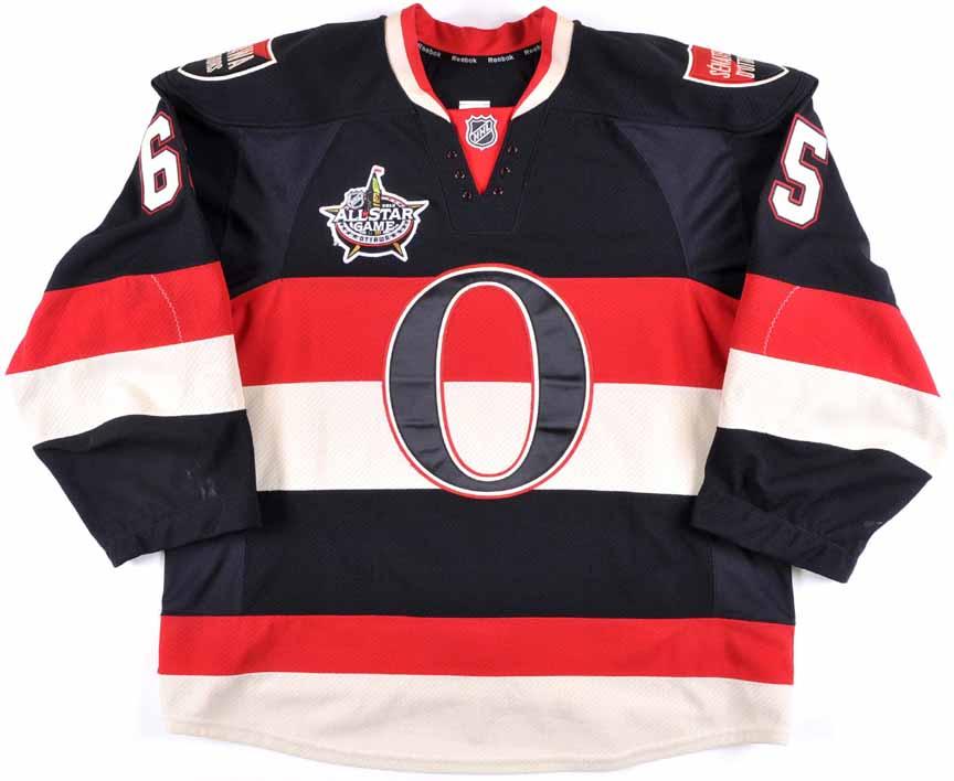 best service 5595a 4e118 2011-12 Erik Karlsson Ottawa Senators Game Worn Jersey ...