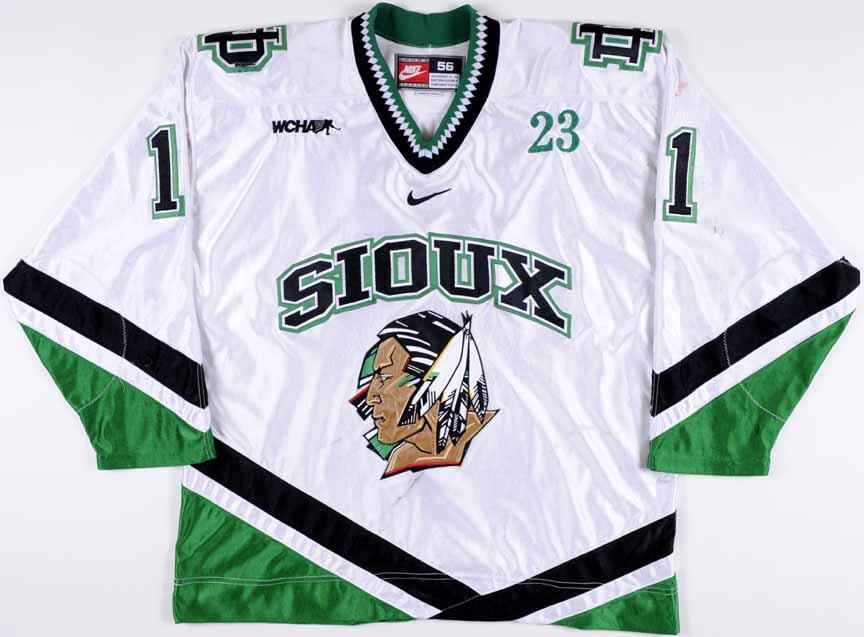 """2002-03 Zach Parise University of North Dakota Game Worn Jersey – Rookie - """" 40a59645afc"""