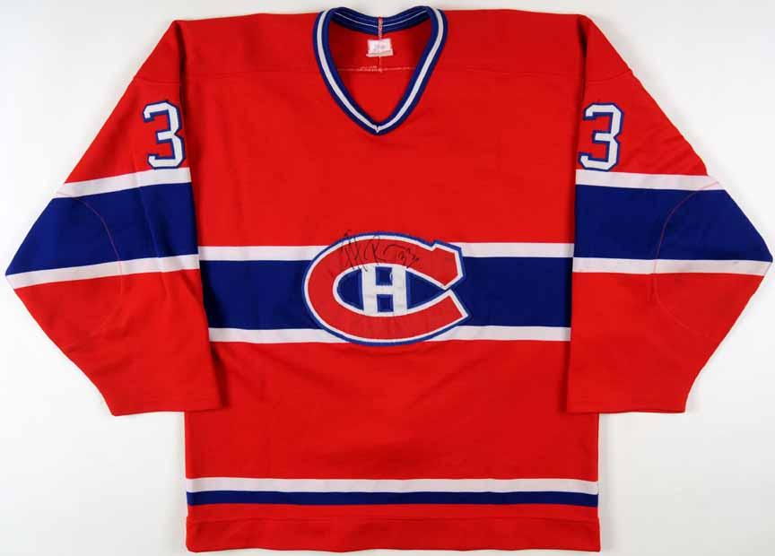 c1d98e7b4 1986-87 Patrick Roy Montreal Canadiens Game Worn Jersey - 2nd Season ...