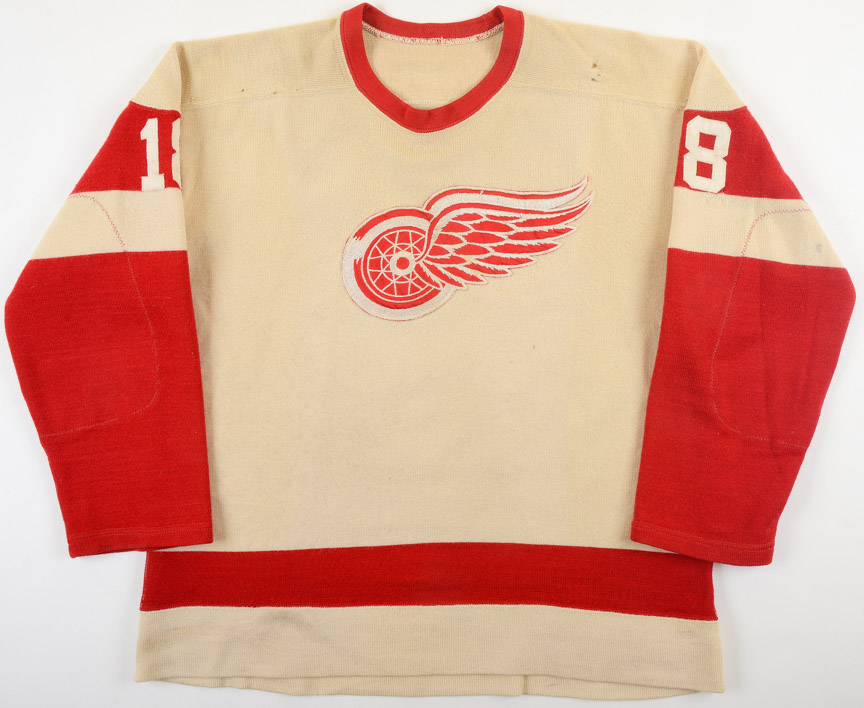 Circa Late 1950's Detroit Red Wings Game Worn Wool Jersey