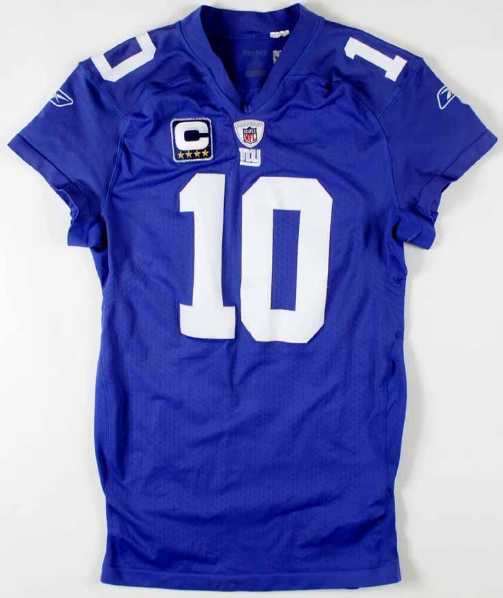 2010 Eli Manning New York Giants Game Worn Jersey Team