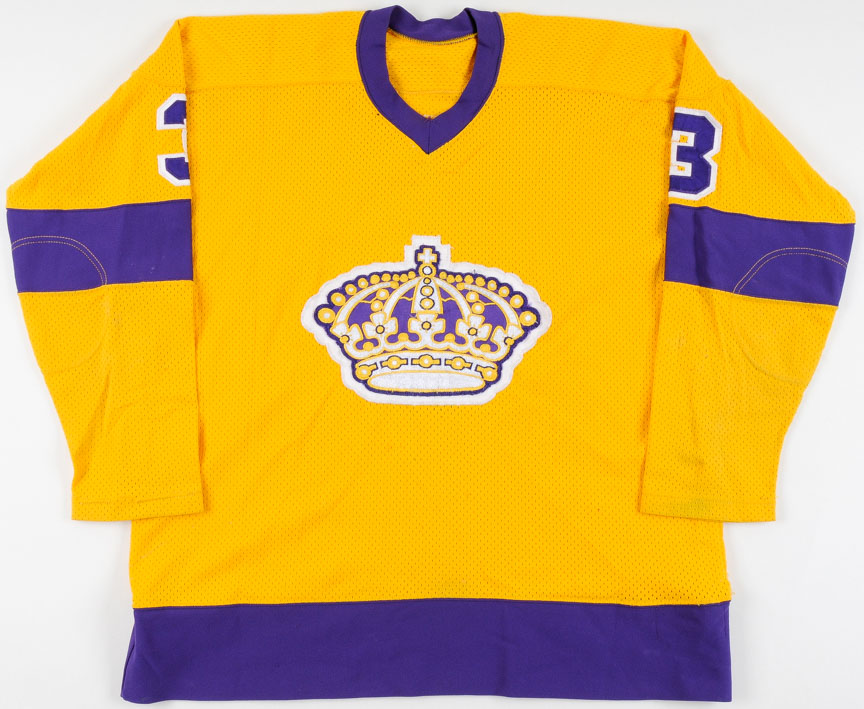save off 30687 fb23a 1976-77 Larry Brown Los Angeles Kings Game Worn Jersey ...