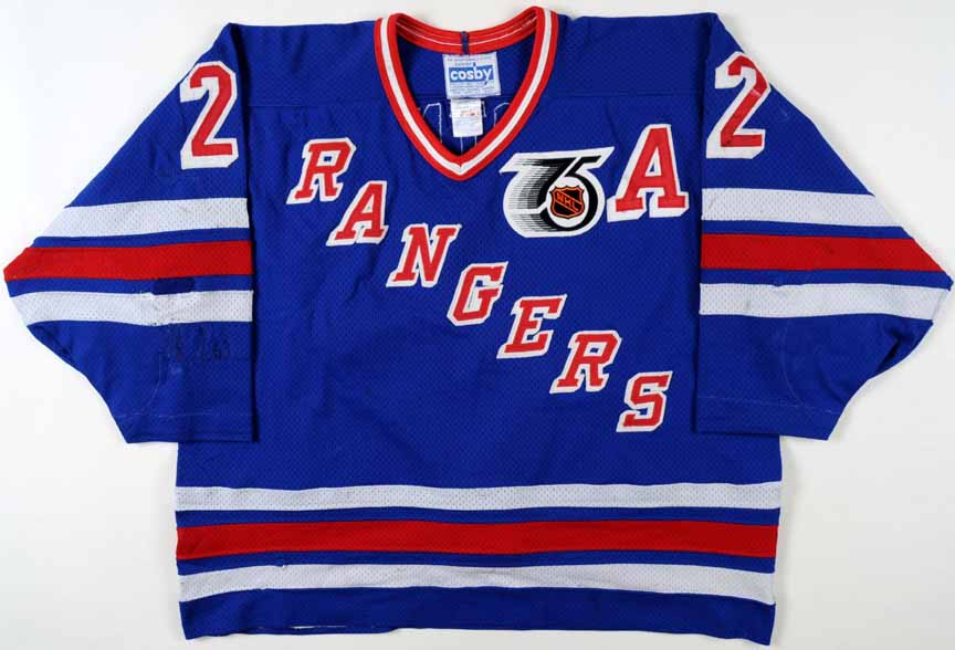 4cfd4f367 1991-92 Mike Gartner New York Rangers Game Worn Jersey ...
