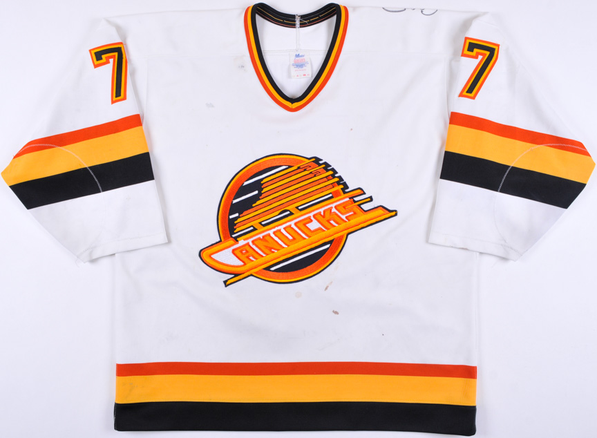 1990-91 Cliff Ronning Vancouver Canucks Game Worn Jersey - Team Letter 0be92cf0d3d