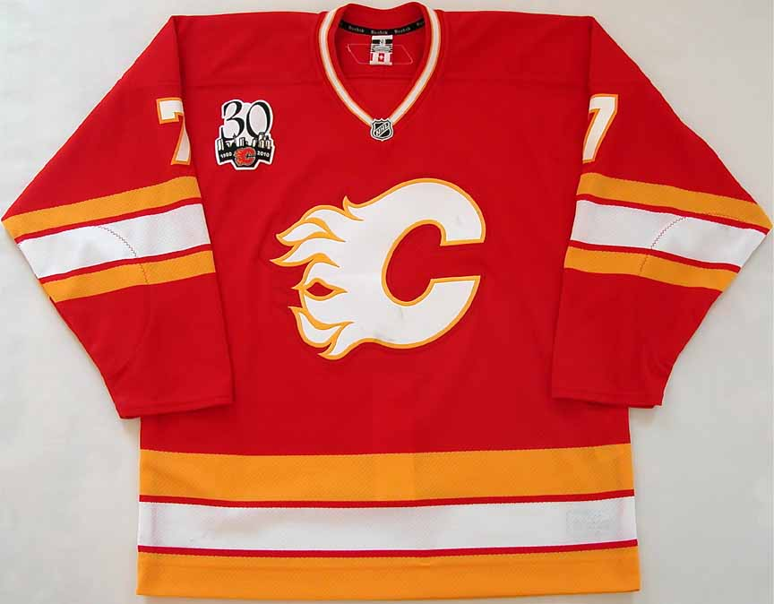 hot sale online cc2d8 31369 2009-10 Adam Pardy Calgary Flames Game Worn Jersey -