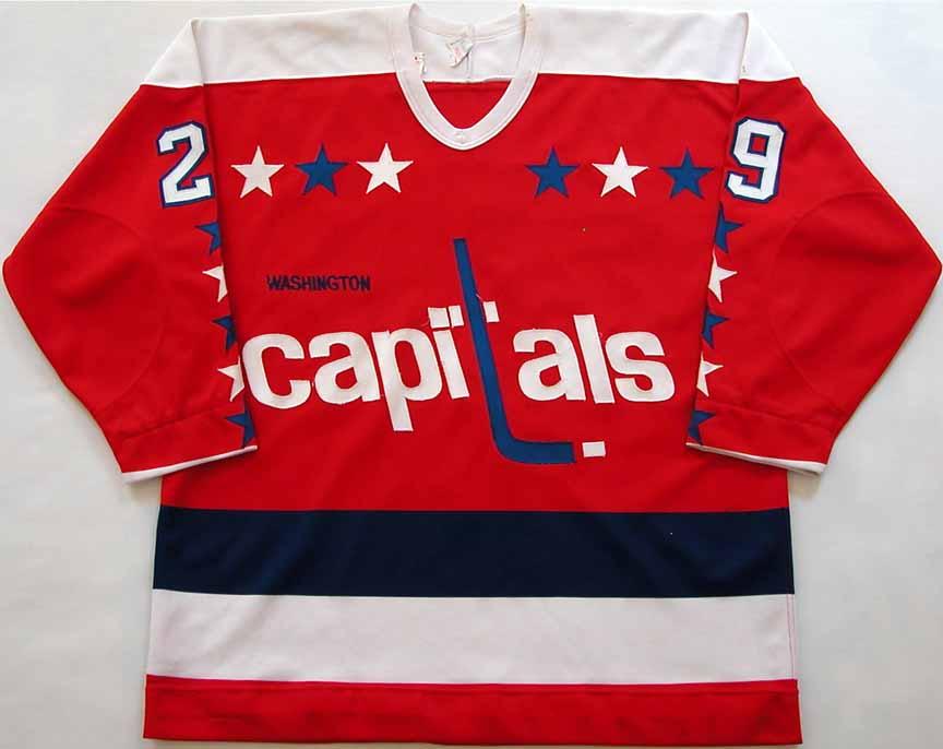 1981-82 Mike Palmateer Washington Capitals Game Worn Jersey - Photo Match 5c1f8683f21