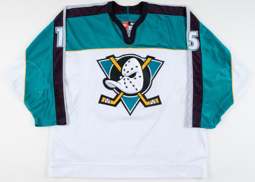 detailed look 11363 2f757 1997-98 Dmitri Mironov Anaheim Mighty Ducks Game Worn Jersey ...