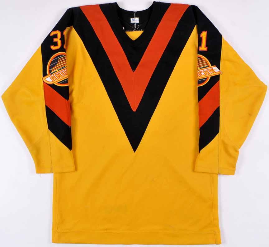 1982-84 John Garrett Vancouver Canucks Game Worn Jersey ... debf286b48b