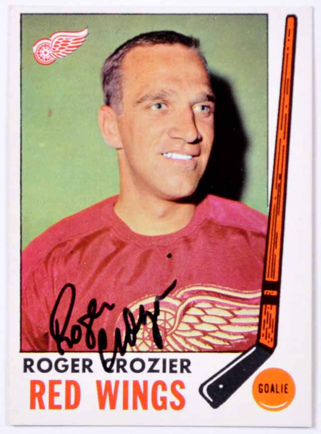 1969 70 Roger Crozier Detroit Red Wings Autographed Card Deceased