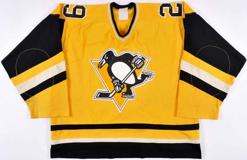 sale retailer c1f2a a9e8f 1981-82 Michel Dion Pittsburgh Penguins Game Worn Jersey ...