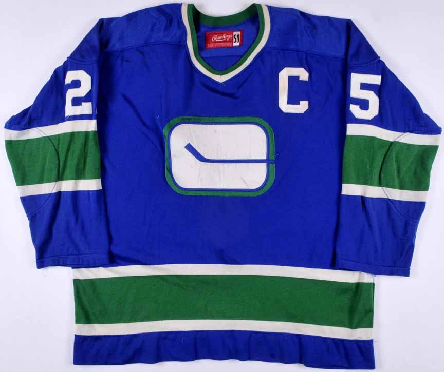 1972-73 Orland Kurtenbach Vancouver Canucks Game Worn Jersey ... 1b4181b9bf3