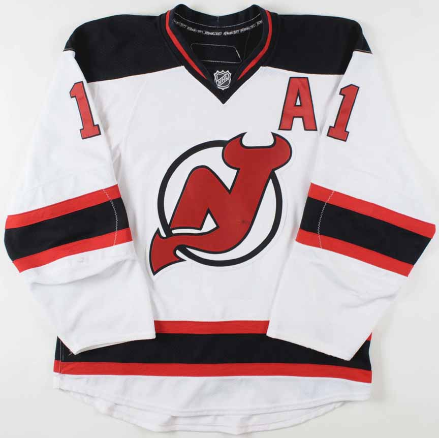 low priced 43e52 458c3 2008-09 John Madden New Jersey Devils Game Worn Jersey ...