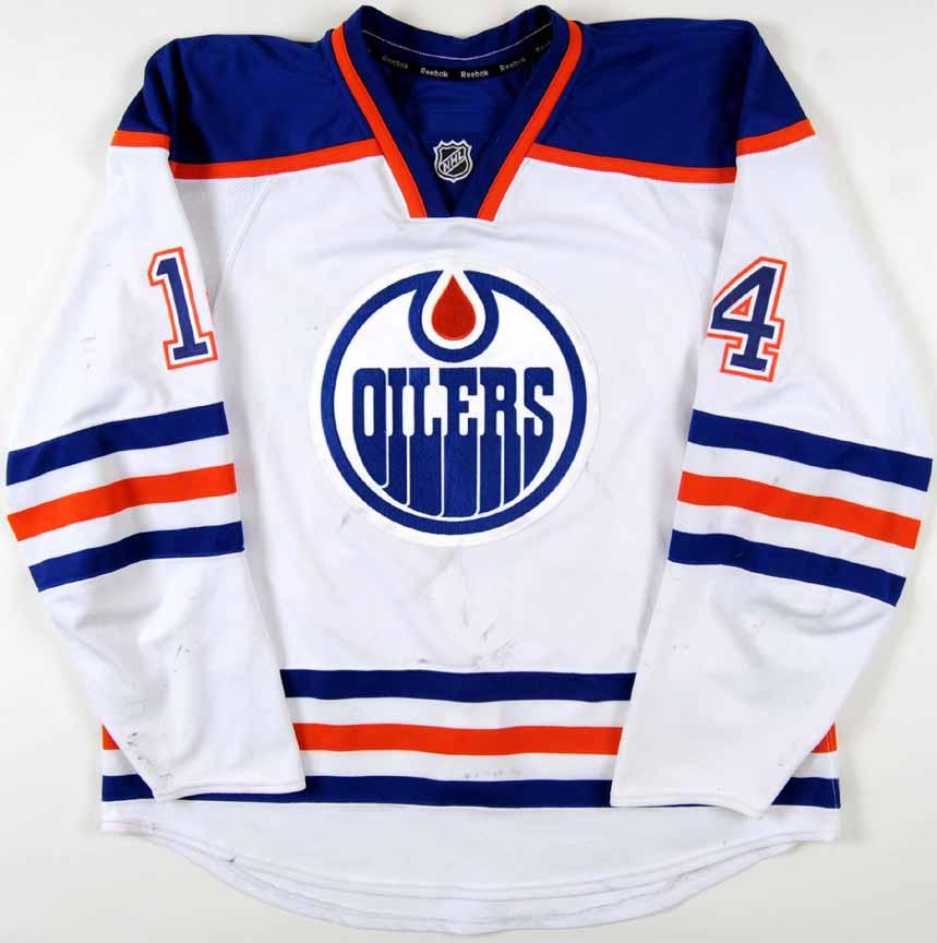 the best attitude 855a4 ad0c0 2011-12 Jordan Eberle Edmonton Oilers Game Worn Jersey ...