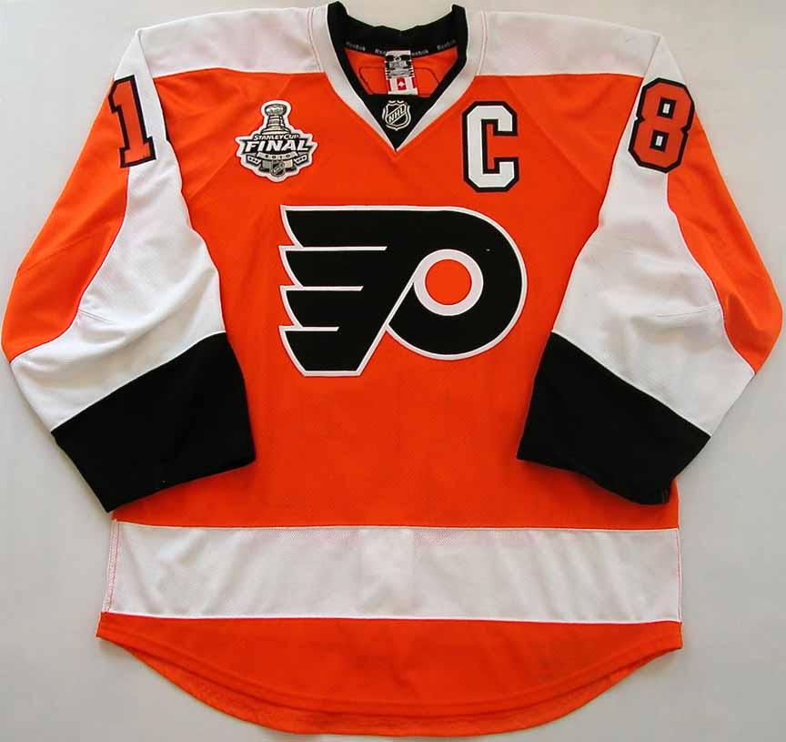 2009-10 Mike Richards Philadelphia Flyers Stanley Cup Finals Game Worn  Jersey -