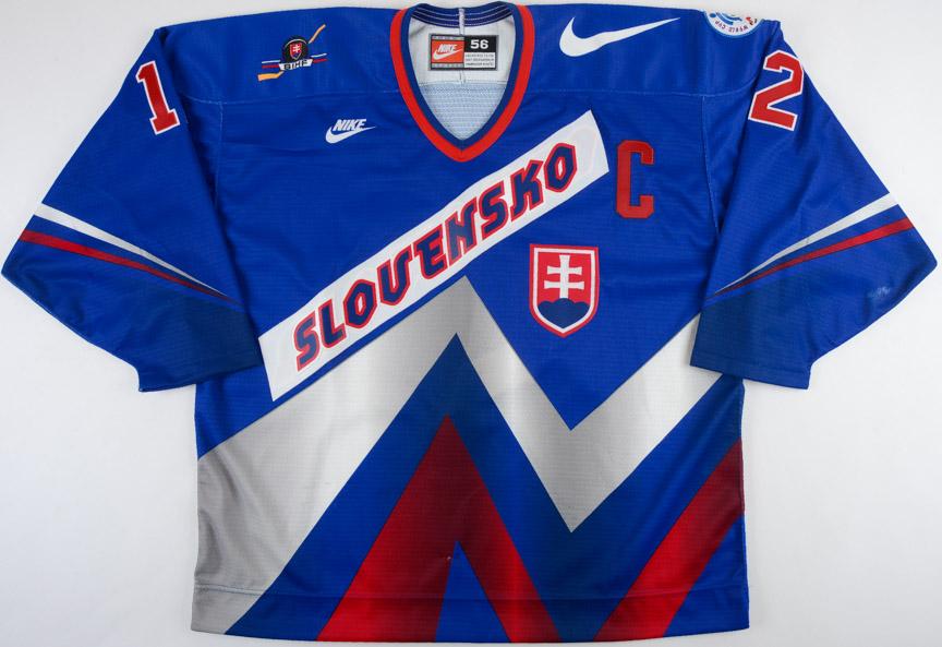 buy popular 49e7d a7594 1996 Peter Bondra Team Slovakia World Cup of Hockey Game ...