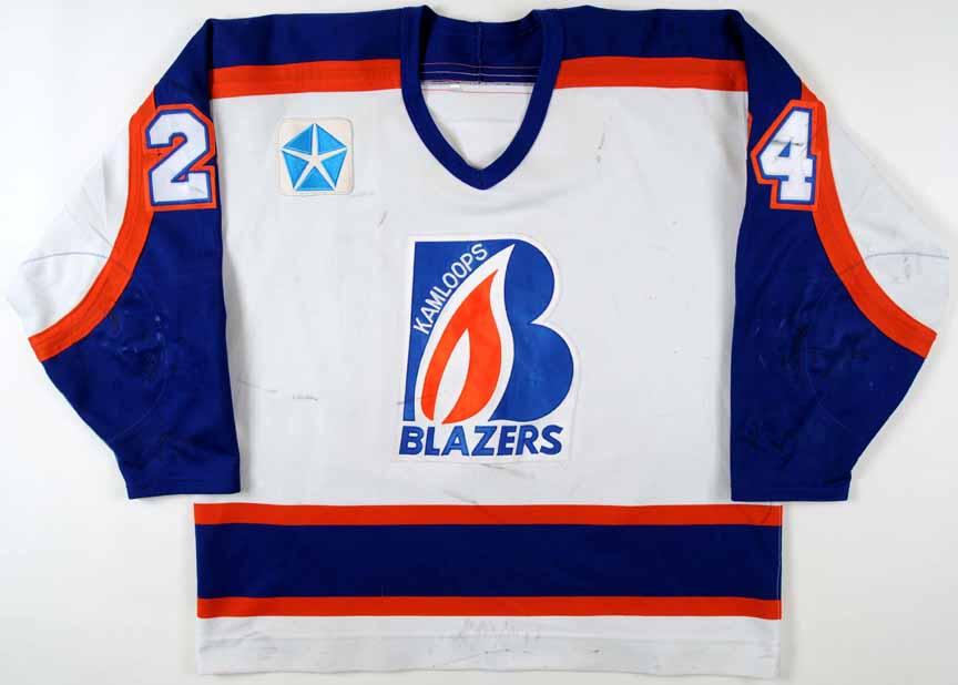 1996-97 Robyn Regehr Kamloops Blazers Game Worn Jersey - Team Letter GAMEWORNAUCTIONS.NET