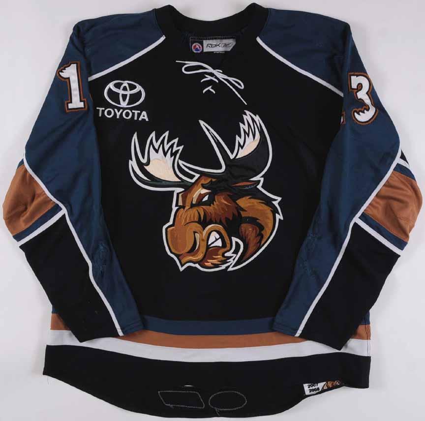 2007-08 Mike Brown Manitoba Moose Game Worn Jersey – Team Letter ...