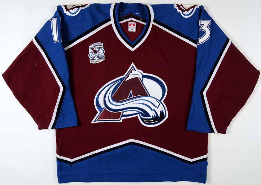 2005 06 dan hinote colorado avalanche game worn jersey. Black Bedroom Furniture Sets. Home Design Ideas
