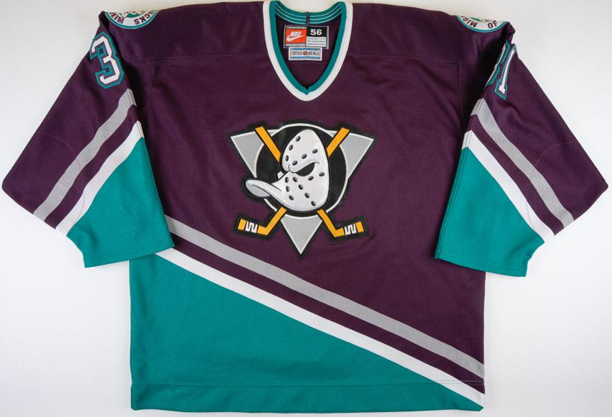 5cf9ad412 1996-97 Guy Herbert Anaheim Mighty Ducks Game Worn Jersey - All Star Season  –