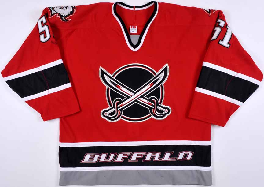 3c406e8acdf closeout 2003 04 brian campbell buffalo sabres game worn jersey alternate  team letter 9629c 43f77