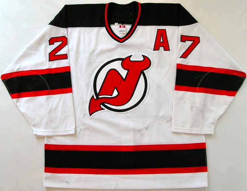 579ab3228 2002-03 Scott Niedermayer New Jersey Devils Game Worn Jersey - Stanley Cup  Season -