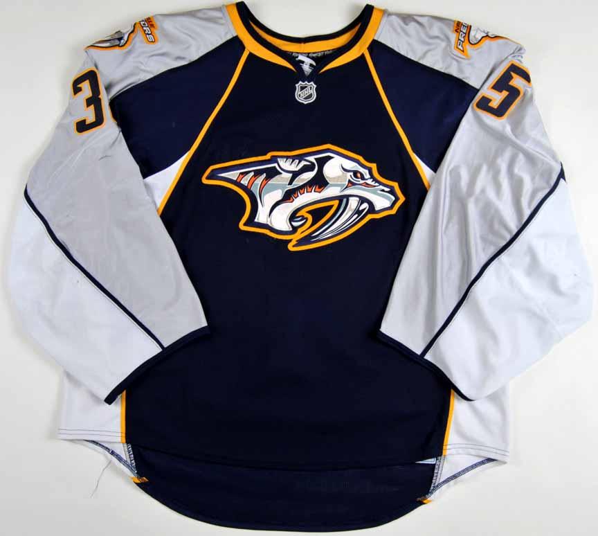 new product 38bb8 84d45 2009-10 Pekka Rinne Nashville Predators Game Worn Jersey ...