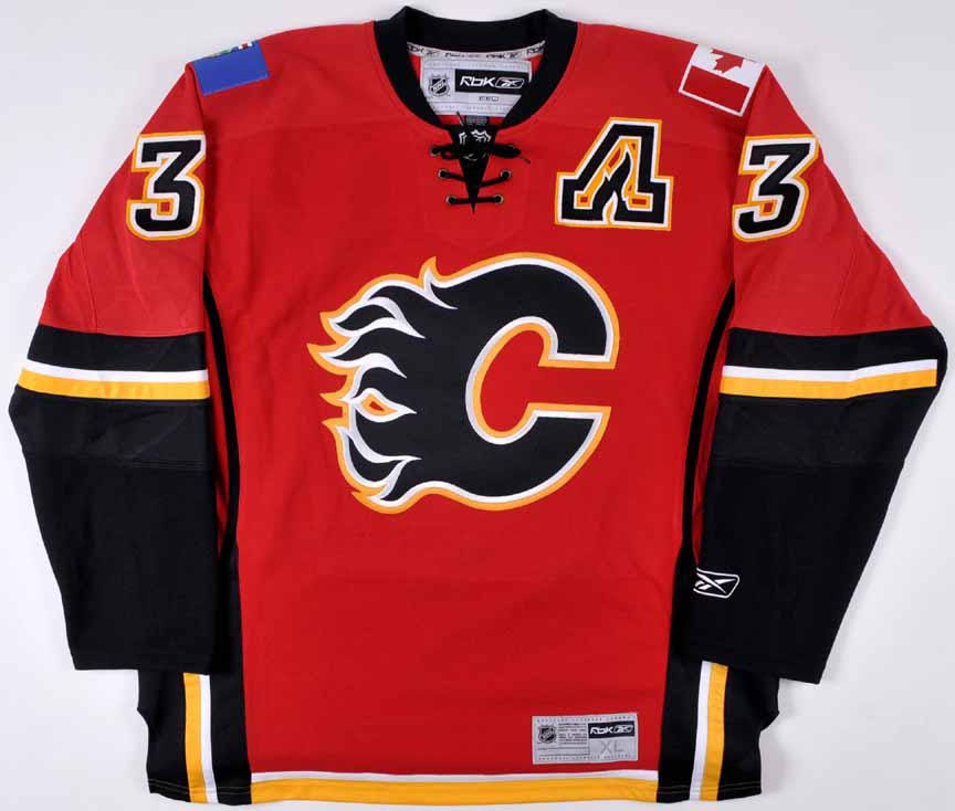 size 40 80ad2 993ce Dion Phaneuf Calgary Flames Autographed Replica Jersey – 3 ...