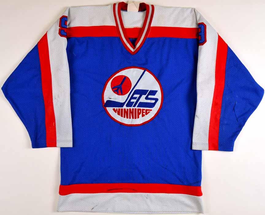 low priced 05d09 10ef9 1982-83 Doug Smail Winnipeg Jets Game Worn Jersey - Photo ...