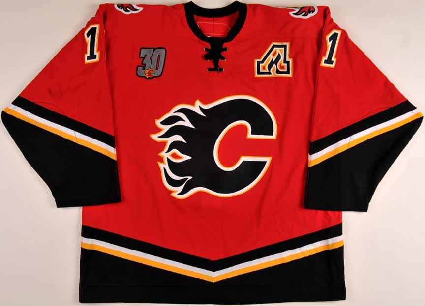 calgary flames jersey history
