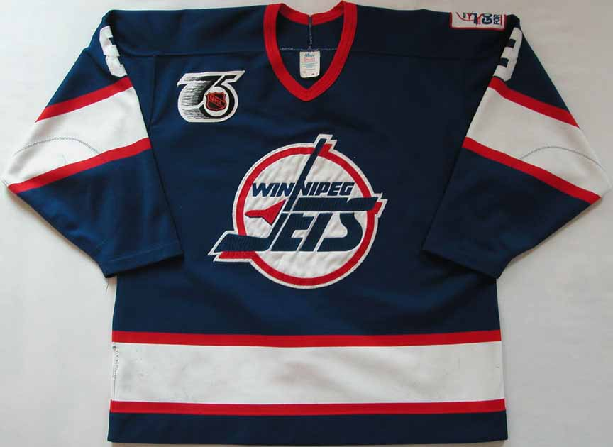 brand new 9008b d8c5c 1991-92 Randy Carlyle Winnipeg Jets Game Worn Jersey ...