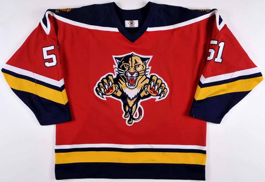 e05b4267 1996 David Nemirovsky Florida Panthers Game Worn Jersey – Team ...