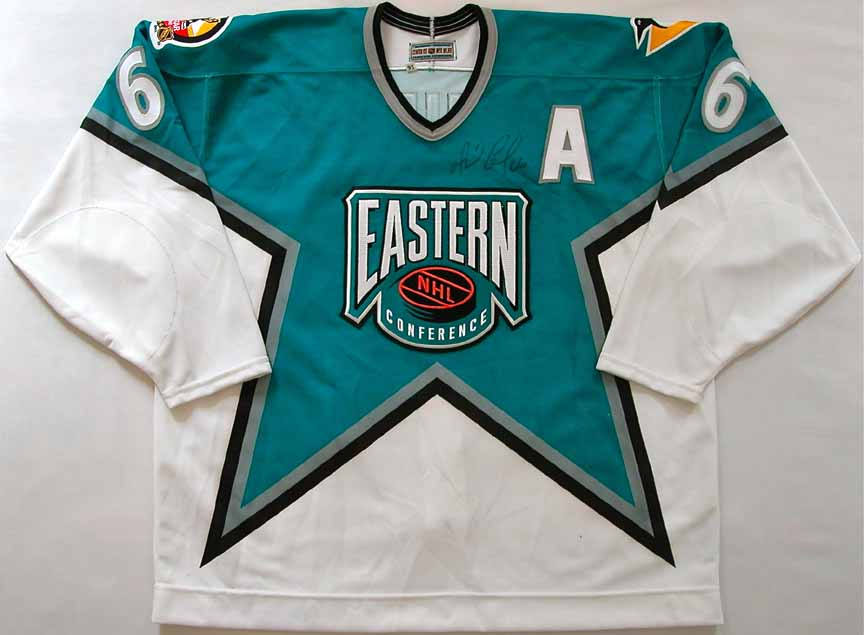 the best attitude e0b3e 274f7 1996 Mario Lemieux NHL All Star Game Worn Jersey -