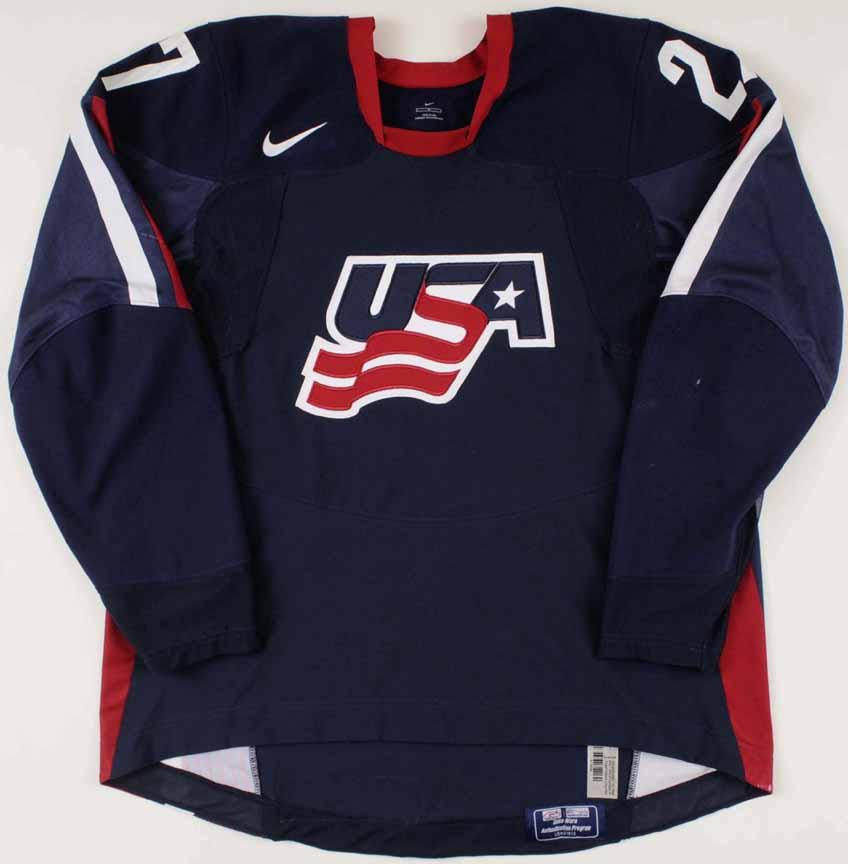 2005-06 Chris Bourque Team USA World Junior Championships Game Worn Jersey 17b595c64e2