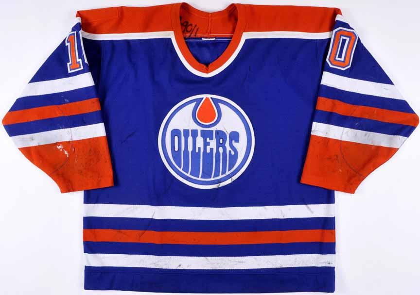 online retailer 2dc64 f52de 1989-90 Esa Tikkanen Edmonton Oilers Game Worn Jersey ...