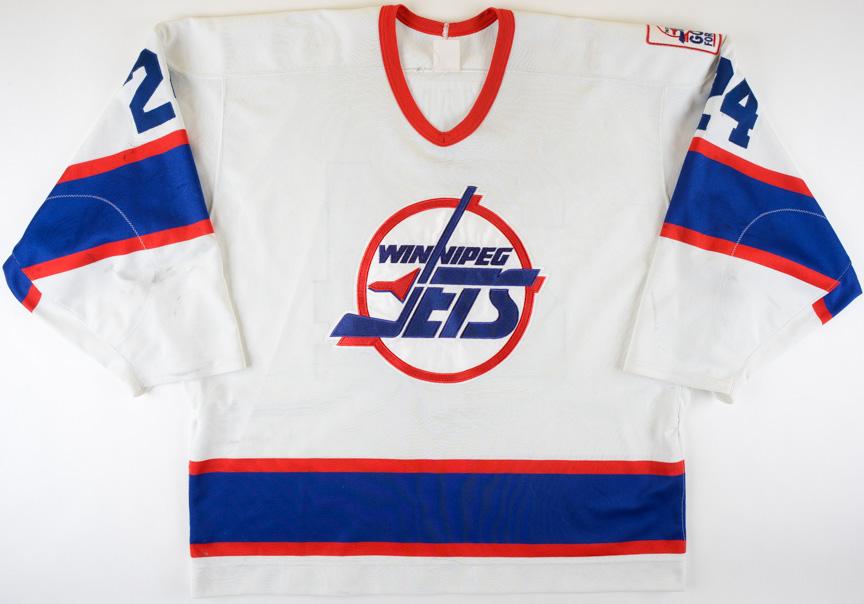 "the best attitude f648b 54f3c 1995-96 Darryl Shannon Winnipeg Jets Game Worn Jersey - ""A ..."