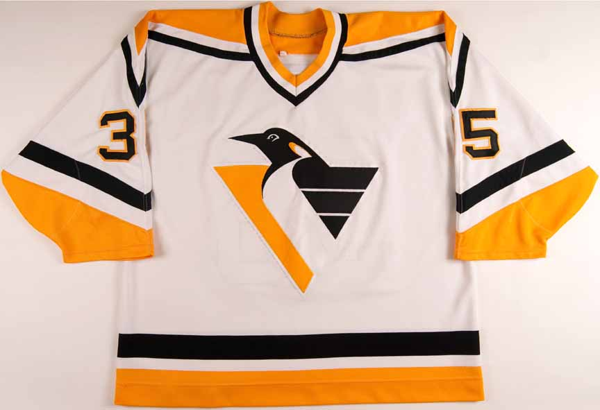 new style 1ac95 0919a 1993-94 Tom Barrasso Pittsburgh Penguins Game Worn Jersey ...
