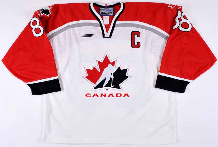 d7008f95d95 Eric Lindros Team Canada 1998 Olympics Autographed Authentic Jersey ...