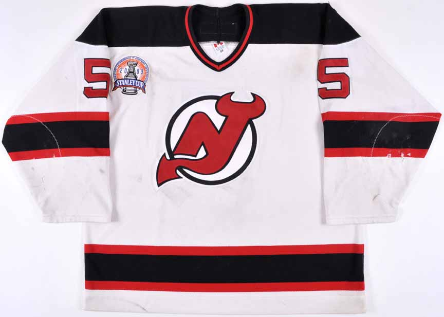 the latest 8d7e5 b67a2 2002-03 Colin White New Jersey Devils Stanley Cup Finals ...