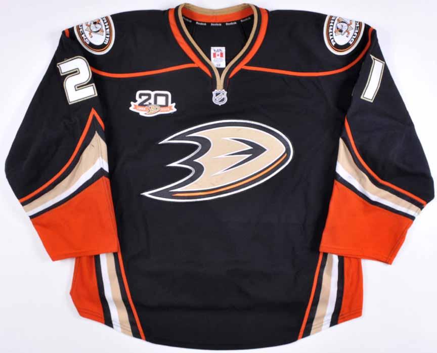 reputable site 7e970 22eeb 2013-14 Kyle Palmieri Anaheim Ducks Game Worn Jersey ...