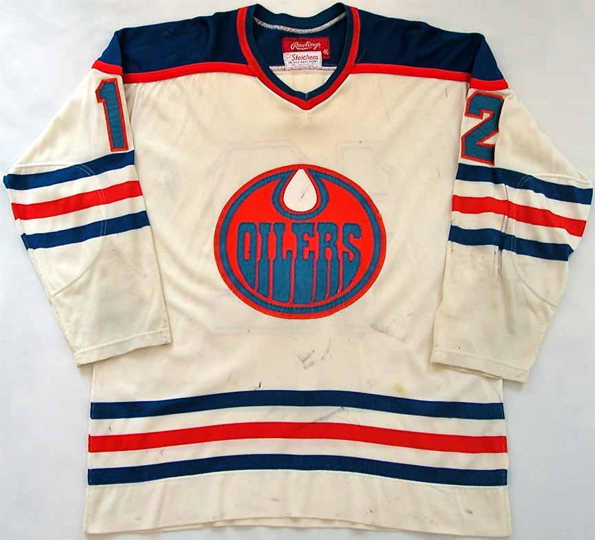 1978-79 Dave Hunter WHA Edmonton Oilers Game Worn Jersey